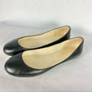 ALDO minimalist black leather ballet flats Sz 6.5
